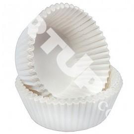 Бумажная форма для маффинов белая 50/40  примерно 100шт