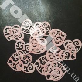 Вафельные сердечки цветные 3,5см 20шт