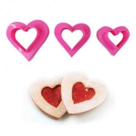 Плунжер Набор Сердца двухсторонние (3 вырубки, 6 размеров)