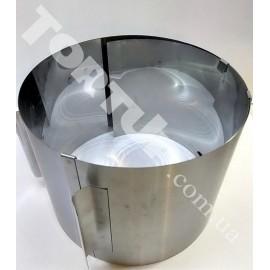 Форма металлическая круглая разъёмная (от16 до 30см) выс.15см