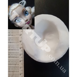 Молд Голова Эльзы №2 3,3*5см