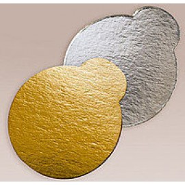 Подложка с ушком серебро/золото 90*90