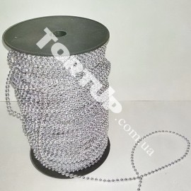 Бусы-гирлянда серебро 3,0мм  1метр