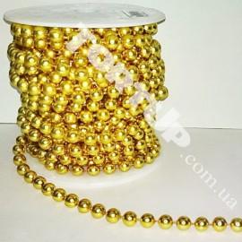 Бусы-гирлянда золото 5мм  1метр