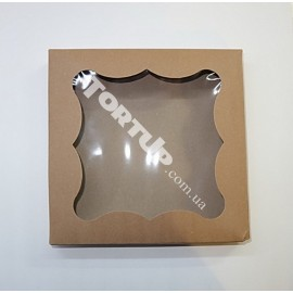 Коробка для пряников, цвет Ретро бежевый 20*20*3см