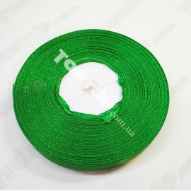 Лента атласная 9мм Зелёная