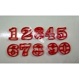 Пластиковая вырубка Цифры набор 0-9, 3см