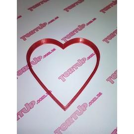 Пластиковая вырубка для пряника Сердце, 10см
