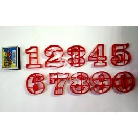 Пластиковая вырубка Цифры набор 0-9, 5см