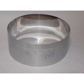 Форма для заливки и формовки десертов и тортов d=20см, h-8см