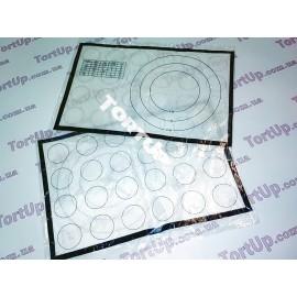 Коврик для выпечки (стекловолокно) с двусторонней разметкой 28*43