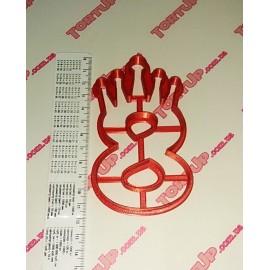 Пластиковая вырубка цифра с короной Восемь 11см