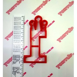 Пластиковая вырубка цифра с короной Один 11см