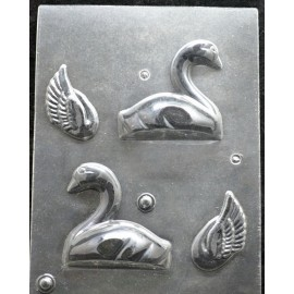 Молд пластиковый Лебедь 3D, pазмер планшета 250*175мм, фигурка 80*80мм