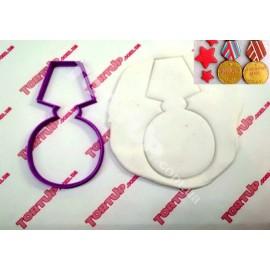 Пластиковая вырубка Медаль 12см