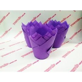 Бумажная форма Тюльпан 5*8см Фиолетовый 10шт