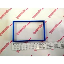 Пластиковая вырубка Рамка прямоугольная, 12 *7,5см