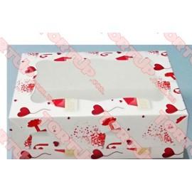Коробка глянец для пирожных и пряников LOVE окно 250*170*80мм