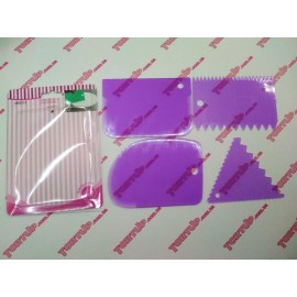 Набор 4 шпателя пластиковые