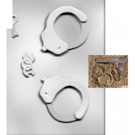 Пластиковый молд 3D Наручники Размер 8,7*7,5см