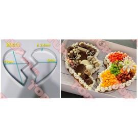 Форма металлическая Сердце из 2 половинок