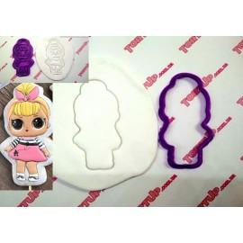 Пластиковая вырубка без оттиска Кукла LOL №3 10см