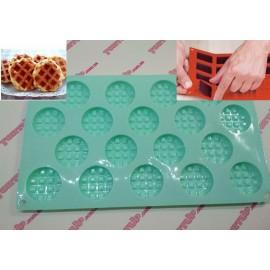 Форма силиконовая Мини плитка, вафельки круглая 1 плитка 4,5*3,5см