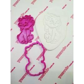 Пластиковая вырубка с оттиском Кошечка Мари  10см