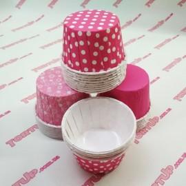 Усиленная форма для маффинов с глянцевой пропиткой Розовые ассорти, 10шт, дно 5см, высота 3см