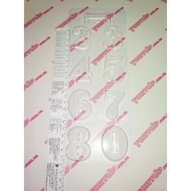 Форма для шоколада и мастики Цифры Размер цифр: от 4,8*2,4см до 5*3,9см, глубина 0,5см