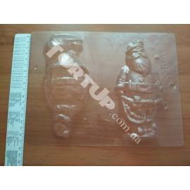Форма для шоколада 3D Санта, размер санты 16*7,5*5см
