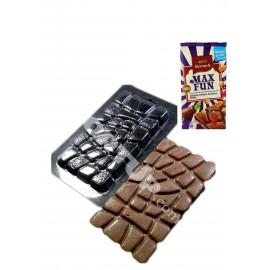 Пластиковая форма для шоколада и мастики Max Fun  Размер молда: 22см * 12,3см