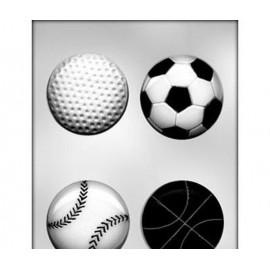 Пластиковая форма для шоколада и мастики Спортивные мячи Диаметр мячей 7,5 см