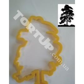 Пластиковая вырубка силуэт Дерево №2 высота 13см