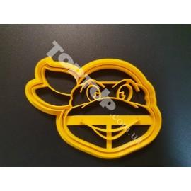 Пластиковая вырубка с оттиском Черепашка ниндзя 10см