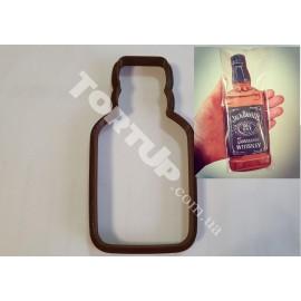 Пластиковая вырубка Бутылка виски 12см