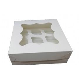 Коробка для маффинов на 9шт с окном,глянец