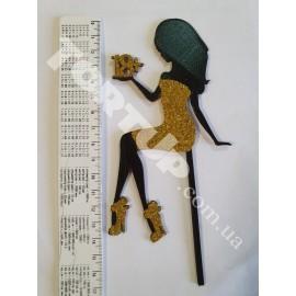 Пластиковый топпер Девушка мартини 18+ с блёстками