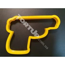 Пластиковая вырубка Пистолет 12см