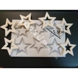 Молд силиконовый на планшете Звёзды 6шт , 5.5см, глубина 4мм