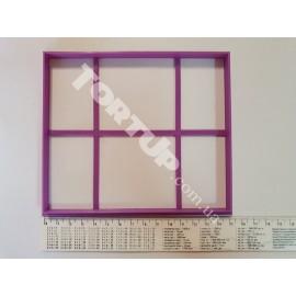 Пластиковая вырубка Рамка прямоугольная 14.5см /12.5см