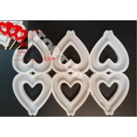 Молд силиконовый для леденцов Сердце №1, 5.5см
