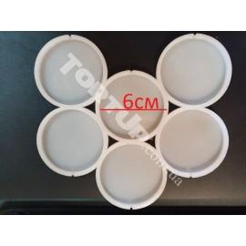 Молд силиконовый для леденцов  Круги№2, 6шт, 6см