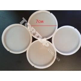 Молд силиконовый для леденцов  Круги№2, 4шт, 7см