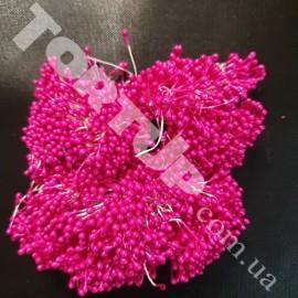Тычинки маленькие тёмно розовые примерно 80шт