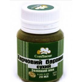 Краситель сухой(пыльца) Confiseur Зелёный Мох, 20мл
