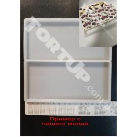 Молд силиконовый для карамели и шоколада Плитка шоколада ,прямоугольник 15/7см
