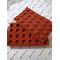 """Форма для десертов """"Полусфера"""" из 24шт 3см №2, коричневая"""