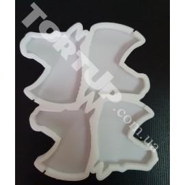 Молд силиконовый для леденцов Голова лошади  6см
