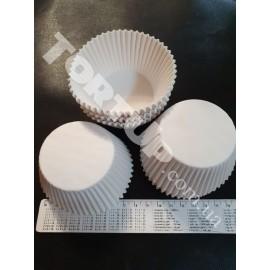 Бумажная форма для маффинов белая дно 5.5см высота 4.5см 50шт